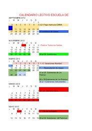 Calendario 2012-2013 Emmadeje