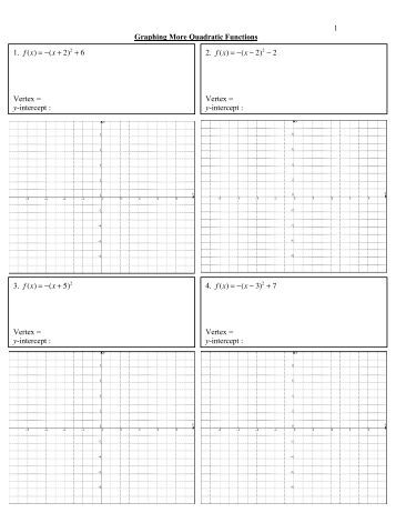 Graphing Functions Worksheet : sciencewikis.org
