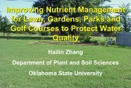 Improving Nutrient Management for Lawn, Gardens, Parks and Golf ...