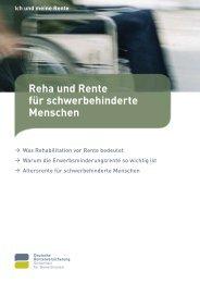 Reha und Rente für schwerbehinderte Menschen