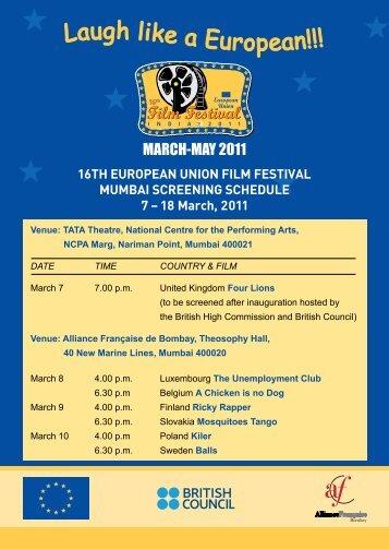 Schedule Card (Mumbai)... - Ambafrance-in.org
