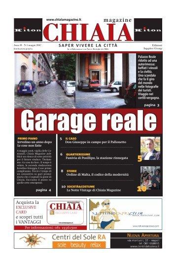 Garage reale - CHIAIA MAGAZINE