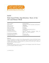 I2-D1 Rule-based Policy Specification: State of ... - Daniel Olmedilla