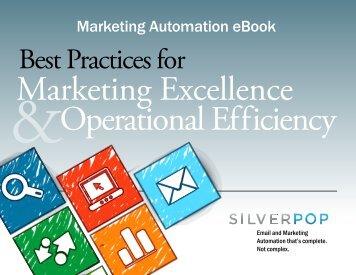 Marketing Automation eBook - Silverpop