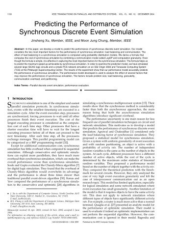 Predicting the Performance of Synchronous Discrete ... - IEEE Xplore