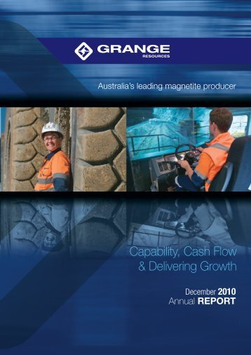 2010 Annual Report - Grange Resources