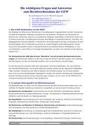 Die wichtigsten Fragen und Antworten zum Berufsrechtsschutz der ...