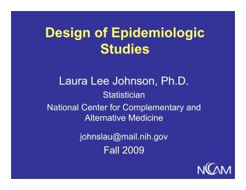 Design of Epidemiolgic Studies