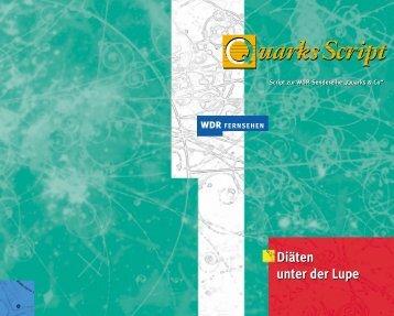 Diäten unter der Lupe Diäten unter der Lupe - Wdr.de