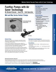 FastVac Pumps with Air Saver Technology - Vaccon Vacuum Products