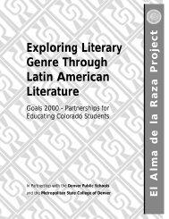 Exploring Literary Genre Through Latin American ... - Outreach World