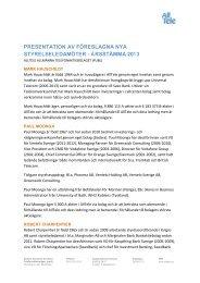 presentation av föreslagna nya styrelseledamöter - AllTele