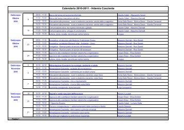 Calendario 2010-2011 - Rete trentina Banche del Tempo