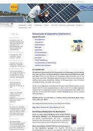 Komponenten für Solarwärme/ Solarthermie © .pdf - ÖKO-Energie