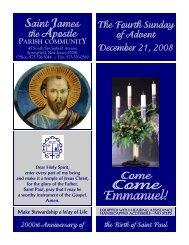 Bulletin 369550 December 21 2008 - Saint James the Apostle ...