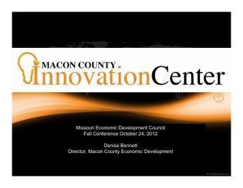 Macon County Innovation Center - Missouri Economic Development ...