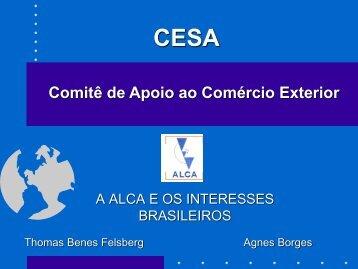CESA Comitê de Apoio ao Comércio Exterior