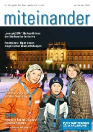Eiszeit: - Stadtwerke Karlsruhe