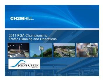 2011 PGA Championship Traffic Planning and Operations - Georgia ...
