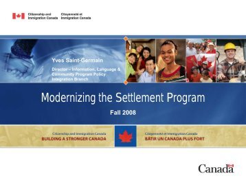 Modernizing the Settlement Program - Settlement At Work