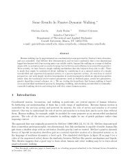 Some Results In Passive-Dynamic Walking - Andy Ruina - Cornell ...