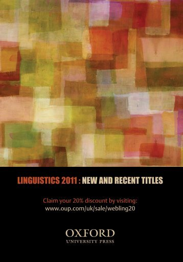 Linguistics Leaflet Covers.indd