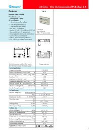 34 Series - Slim electromechanical PCB relays 6 A Features