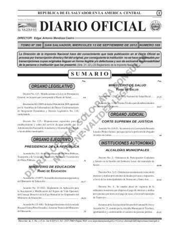 12 - Diario Oficial de la República de El Salvador
