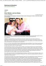 Zwei Mütter und ein Baby - Regenbogenfamilie