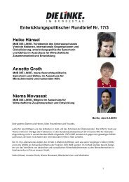 Entwicklungspolitischer Rundbrief Nr. 17/3 Heike ... - Annette Groth