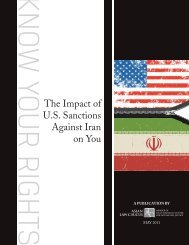 The Impact of U.S. Sanctions Against Iran on You - Asian Law Caucus