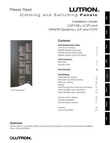 lutron grafik eye installation manual