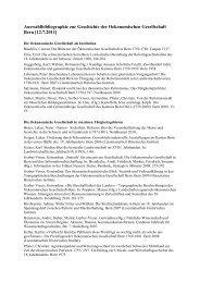 Auswahlbibliographie zur Geschichte der Oekonomischen ...