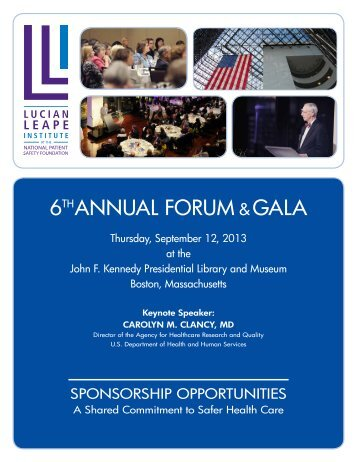 2013 LLI Forum & Gala Prospectus - National Patient Safety ...