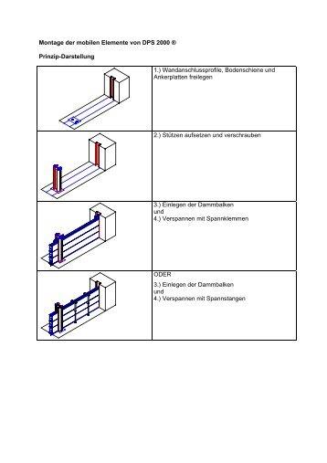 Aufbauanleitung - Hochwasserschutz