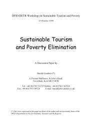 Sustainable Tourism and Poverty Elimination - Turismo Sostenible ...