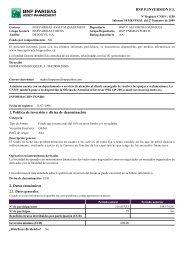 BNP P.INVERSION F.I. 1. Política de inversión y divisa de ...