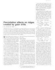 Lyles, L. and J. Tatarko. Precipitation effects on ridges created by ...