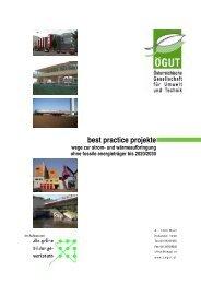 best practice projekte - wege zur strom- und ... - ÖGUT