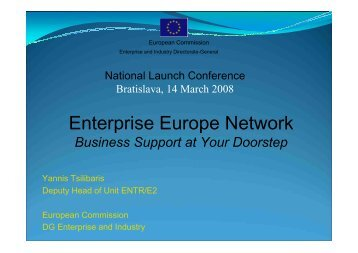 Business Support at Your Doorstep - Enterprise Europe Network