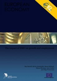 The impact of EMU on growth and employment - Enterprise Europe ...