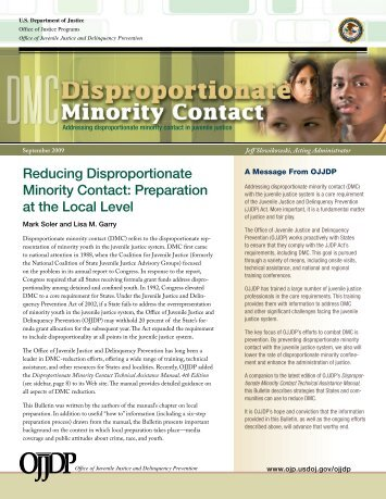Disproportionate Minority Contact - National Criminal Justice ...