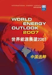 世界能源展望2007:中国选粹 - International Energy Agency