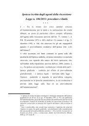 Relazione Cantillo - Consiglio di Presidenza della Giustizia Tributaria