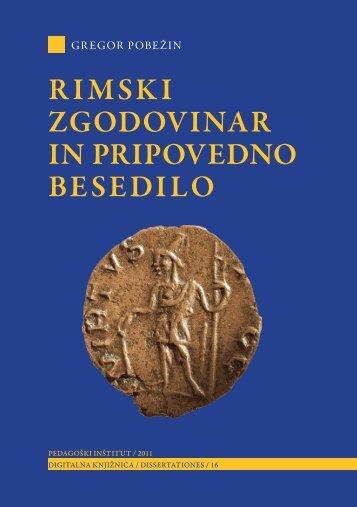 Rimski zgodovinar in pripovedno besedilo - Pedagoški inštitut