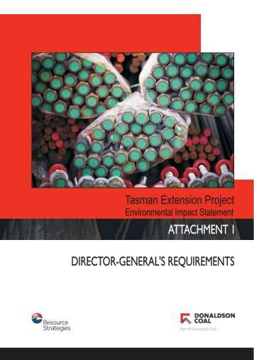 ATTACHMENT 1 DIRECTOR-GENERAL'S REQUIREMENTS