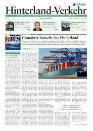 Container braucht das Hinterland - Verkehr
