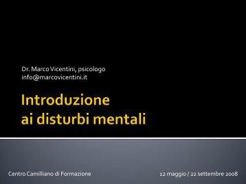 Disturbo mentale - Marco Vicentini