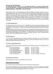 Satzung der Stadt Warstein zur Abänderung der Fristen bei der ...