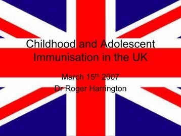 Childhood and Adolescent Immunisation in the UK